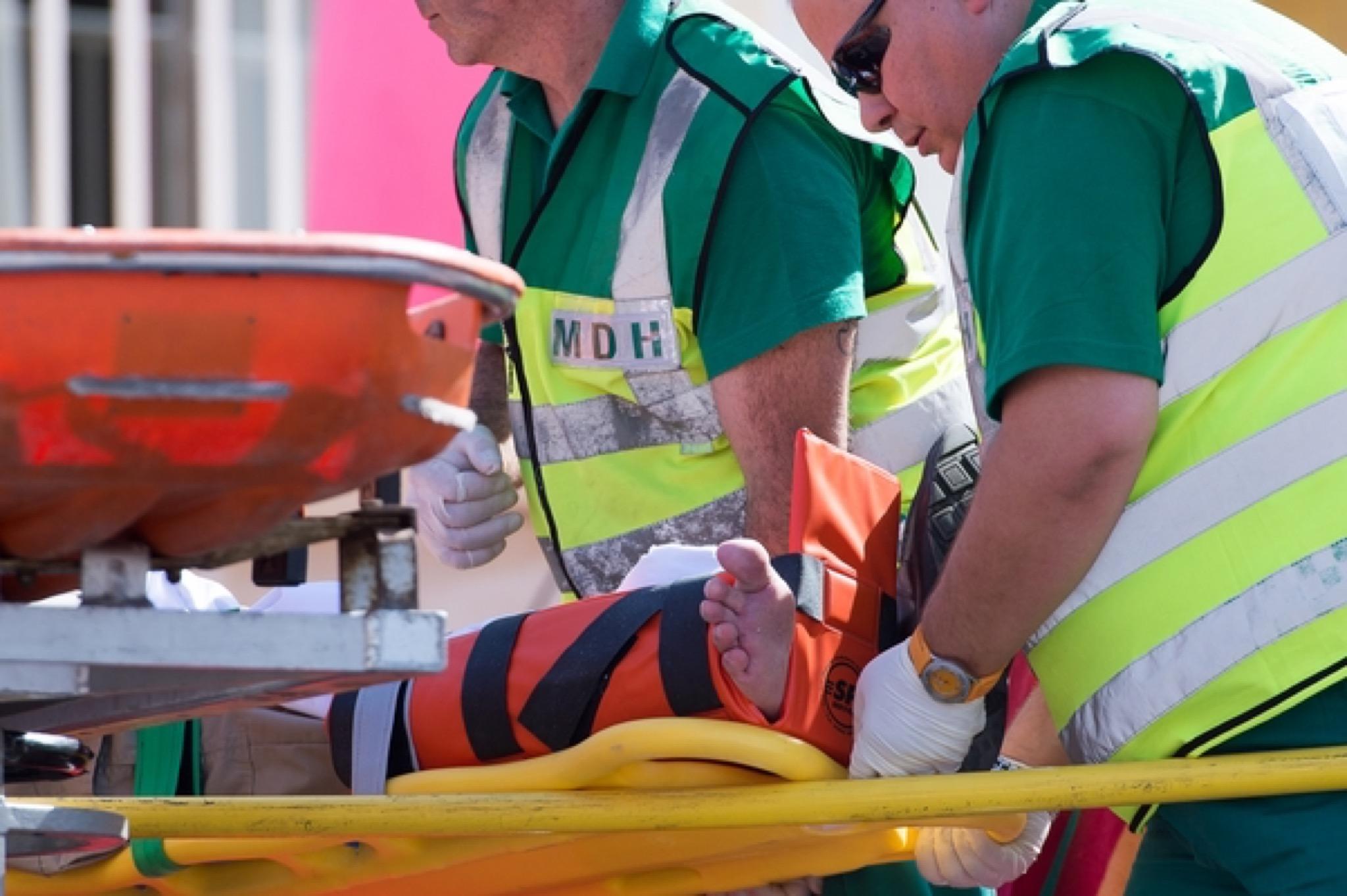 paramedics ambulanza stock image