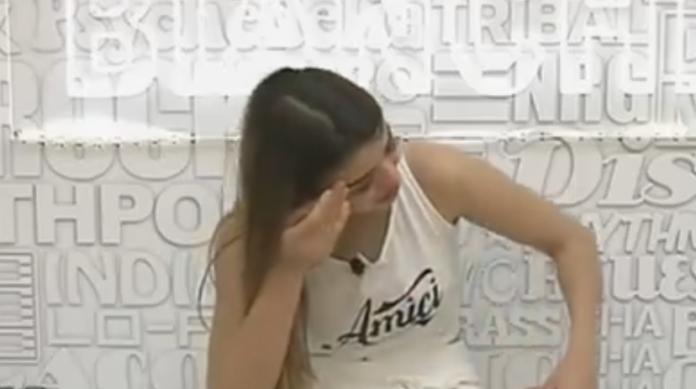 Emma Muscat crying
