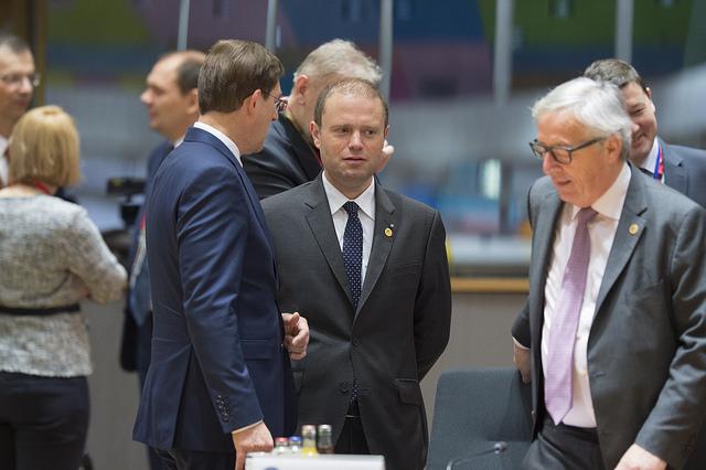 Joseph Muscat Jean Claude Juncker