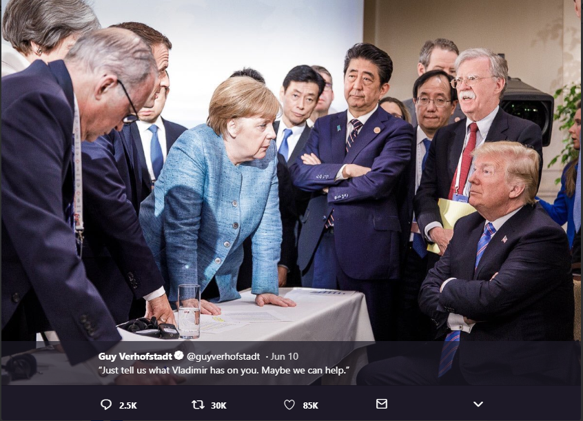 G7 leaders vs Trump