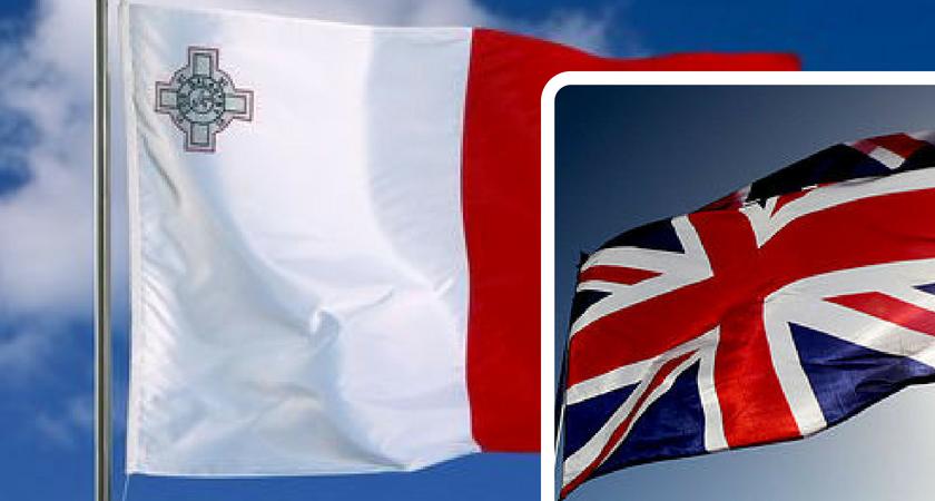 malta flag union flag