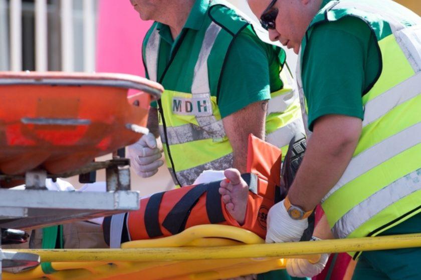 Paramedics - patient - casualty - ambulance