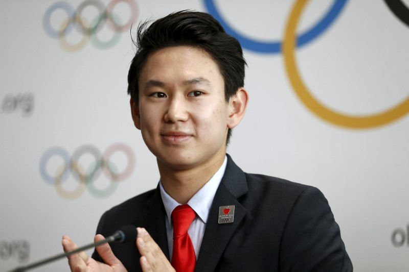FILE PHOTO: Denis Ten of Kazakhstan attends a news conference after the briefing for IOC members by the 2022 Winter Olympic Games candidate city of Almaty in Lausanne