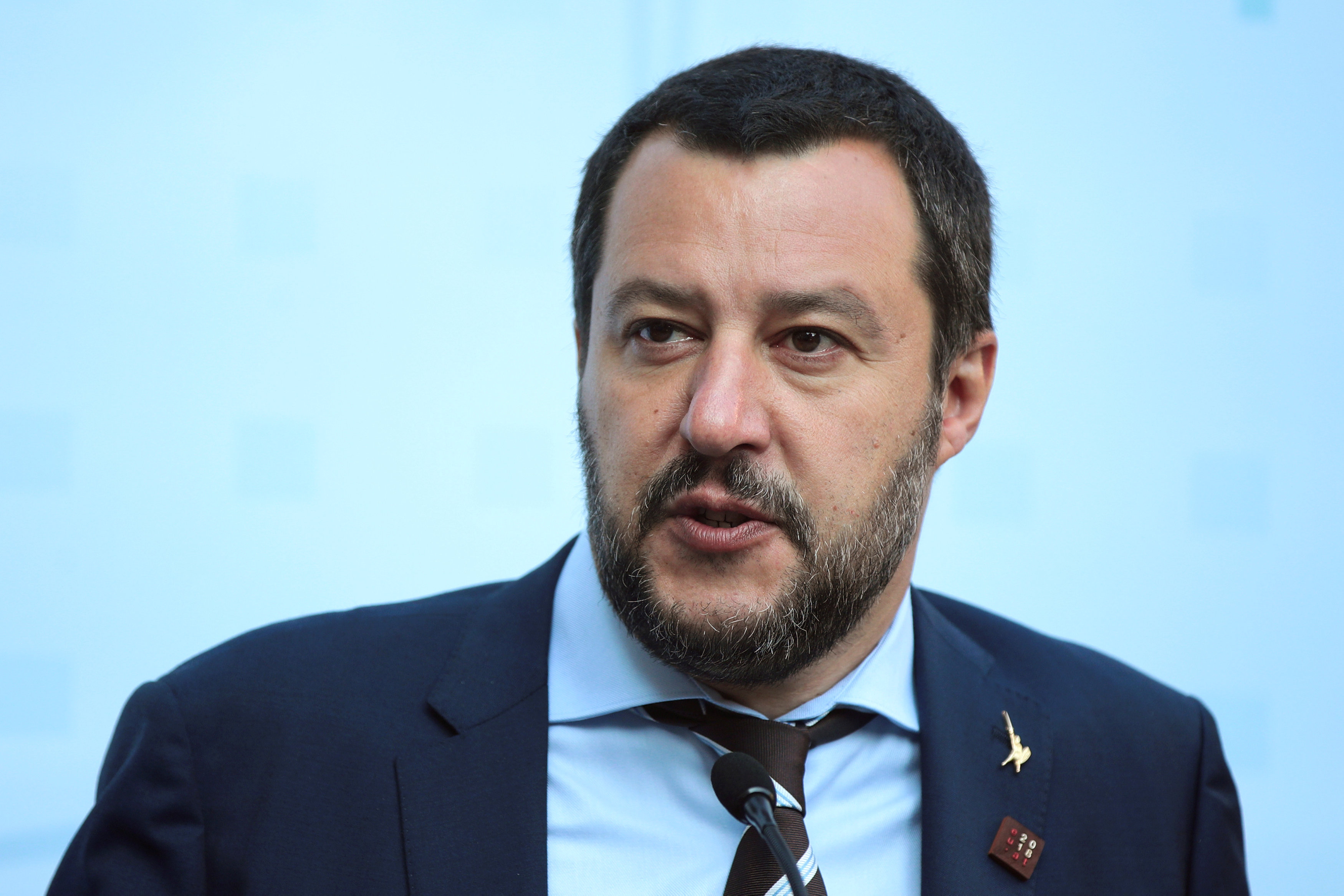 FILE PHOTO: Italy's Salvini attends a trilateral meeting in Innsbruck