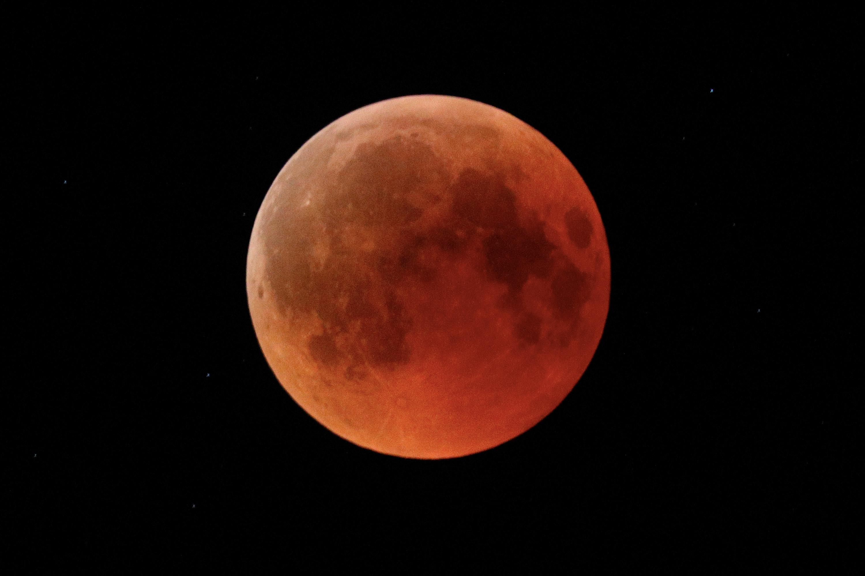 Blood moon in Ashkelon, Israel