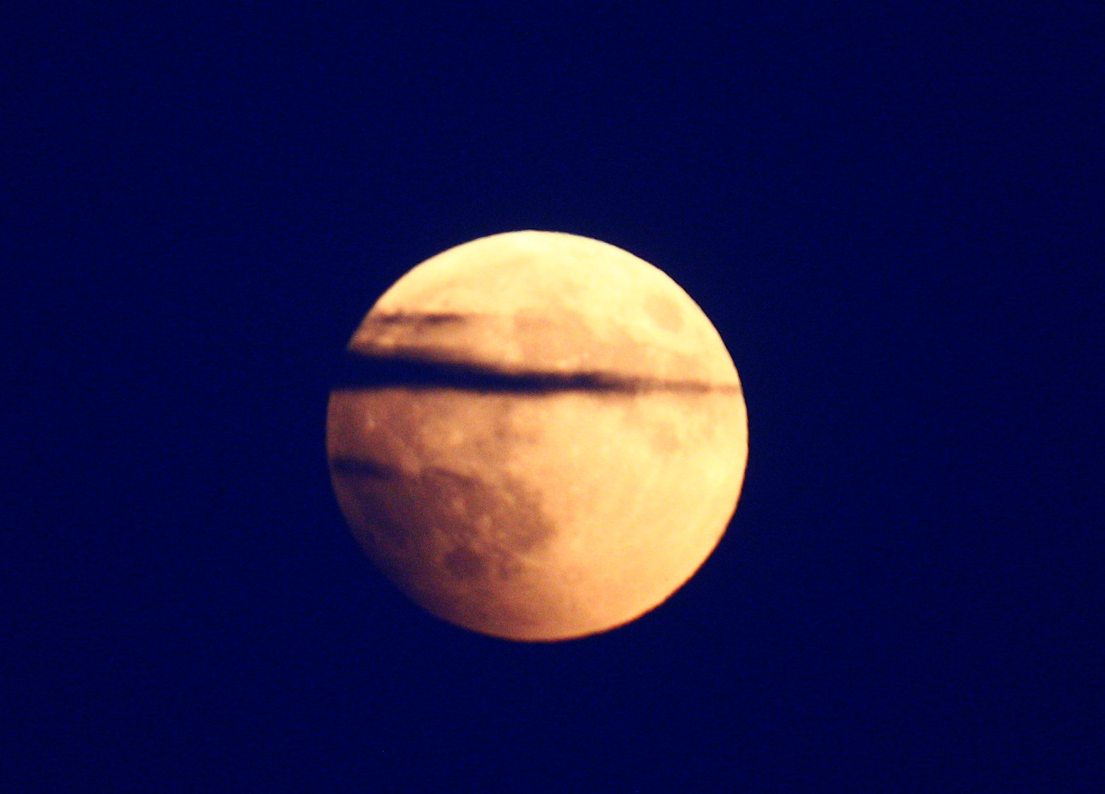 """""""Blood moon"""" is seen during a partial lunar eclipse in Skopje"""