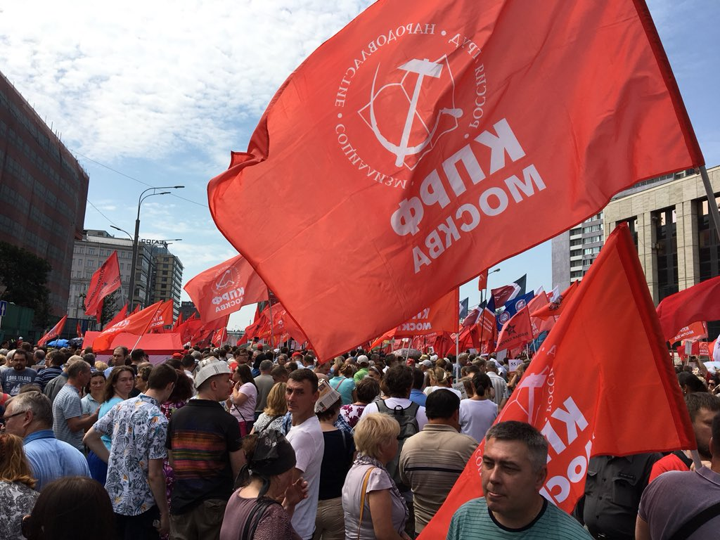 Retirement age increase, protests in Russia