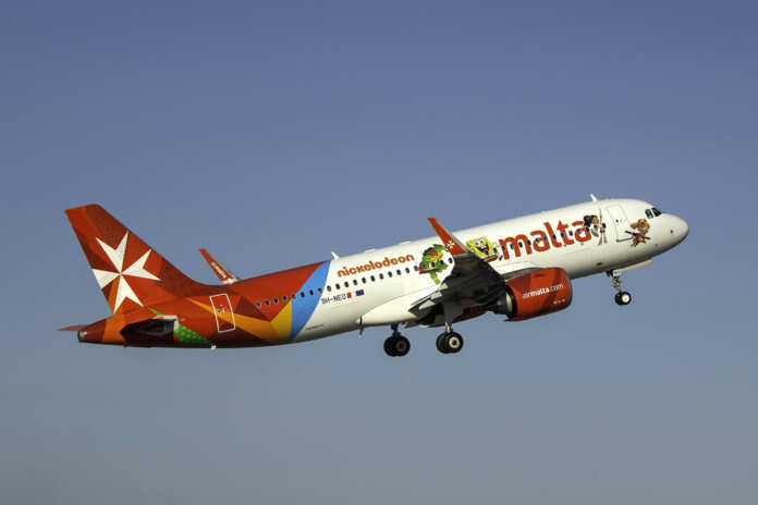 Air Malta aeroplane