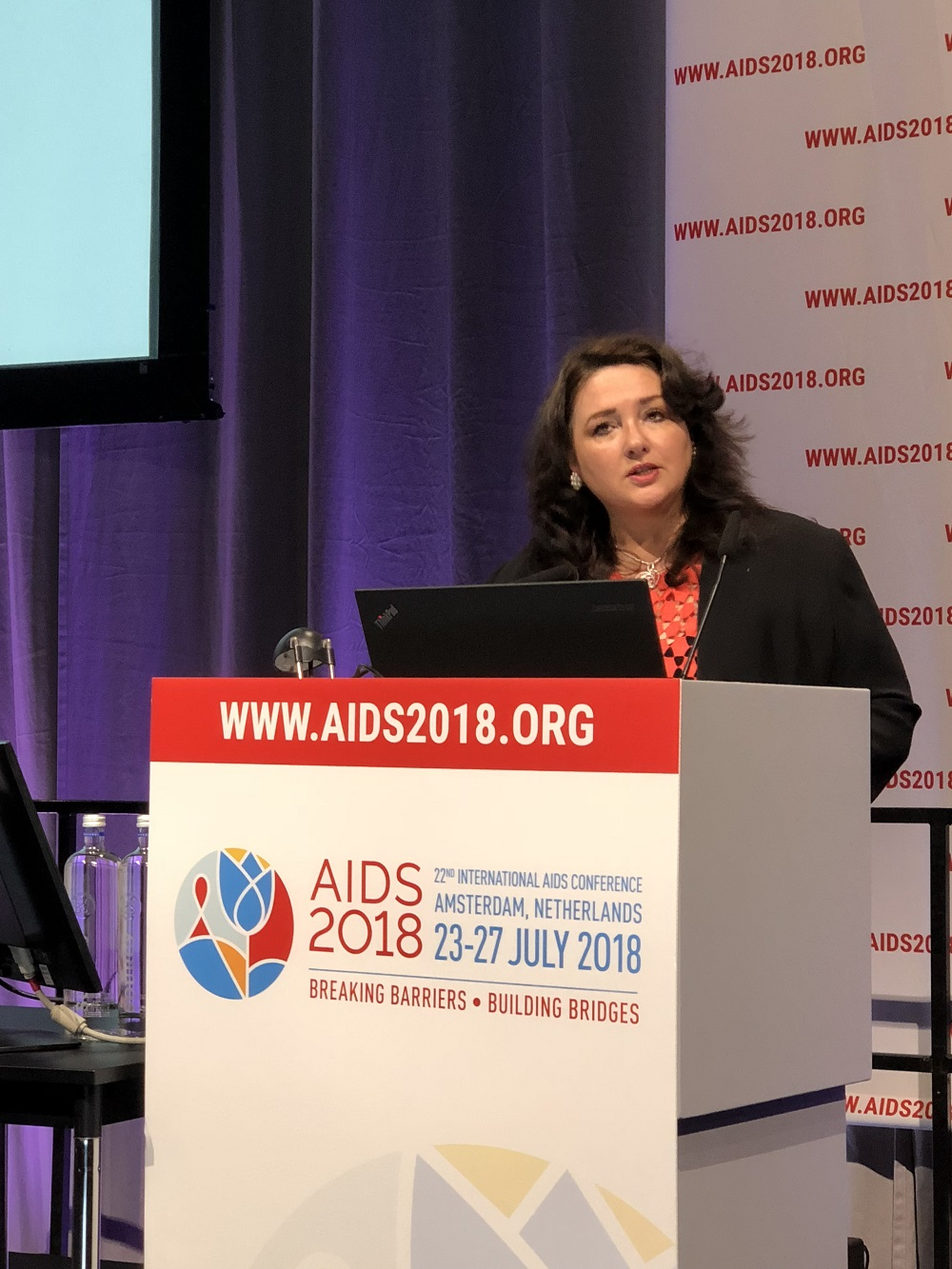 Helena Dalli - AIDS 2018 conference