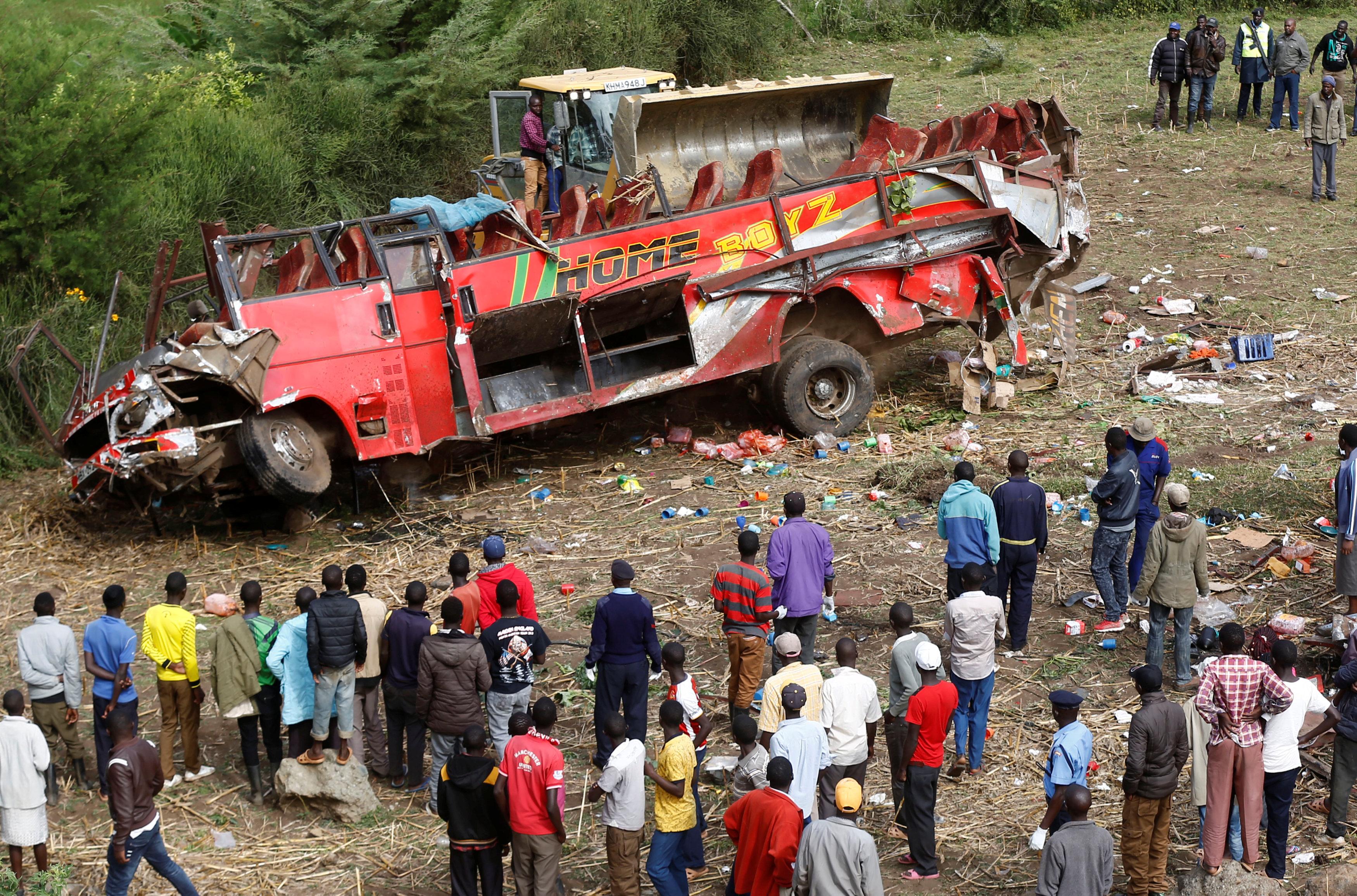 Fifty Killed In Kenya Bus Crash Newsbook