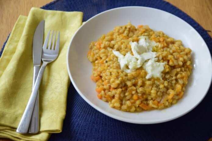 Sweet potato risotto with truffle oil & fresh bufala | Newsbook Recipes