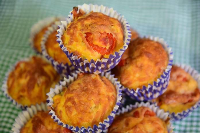 'Pizza' Savoury Lunchbox Muffins