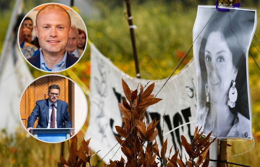 Daphne assassination: PL and PN leaders react differently to report - Newsbook