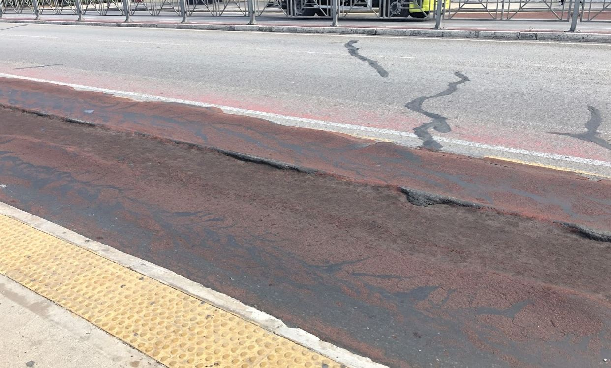 Watch: Damage on National Road surface - Newsbook