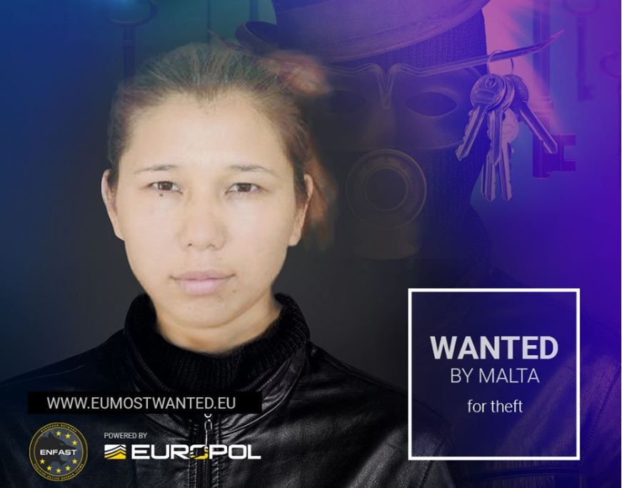 Woman sought by Maltese police, on EUROPOL most wanted list - Newsbook