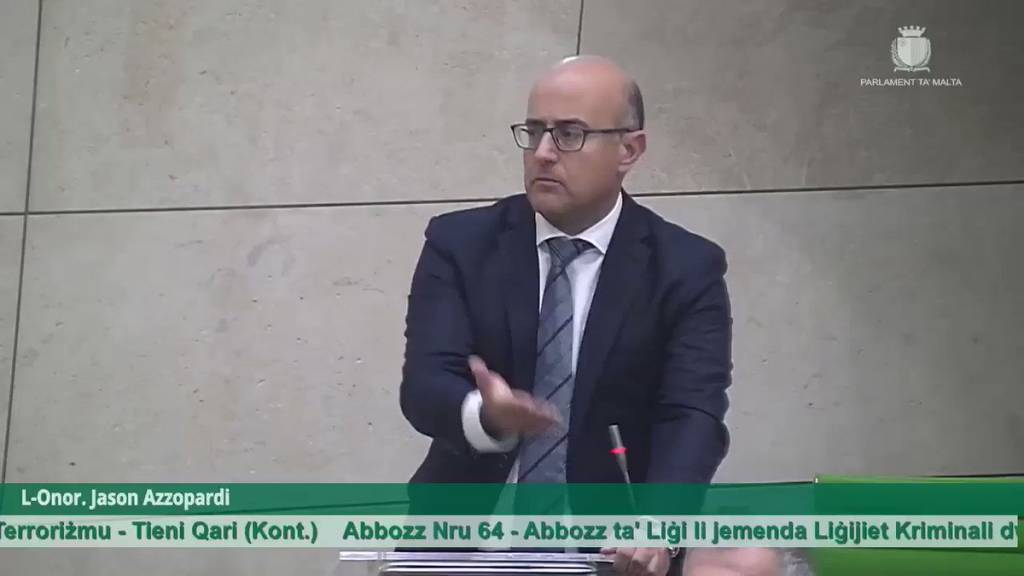 Jason Azzopardi in Parliament
