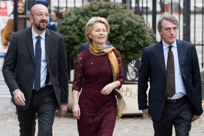 Participation of Ursula von der Leyen, President of the EC, at the ceremony to mark the start of the new European Commission and the 10th anniversary of the Treaty of Lisbon