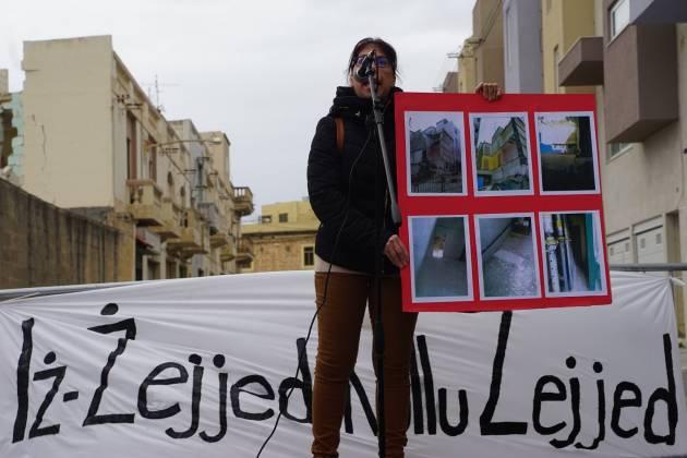 Protesta Moviment Graffitti Santa Venera caroline micallef gwardmangia victim