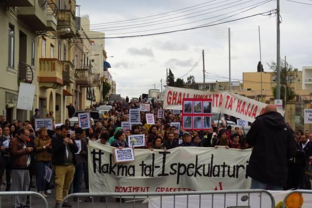 Protesta Moviment Graffitti Santa Venera