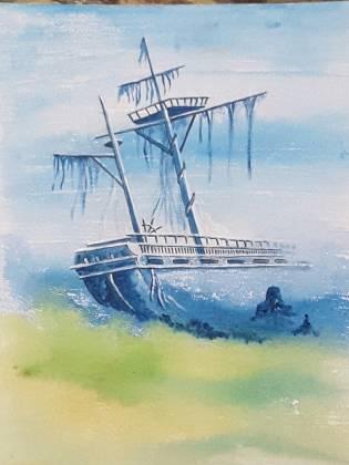 painting shipwreck