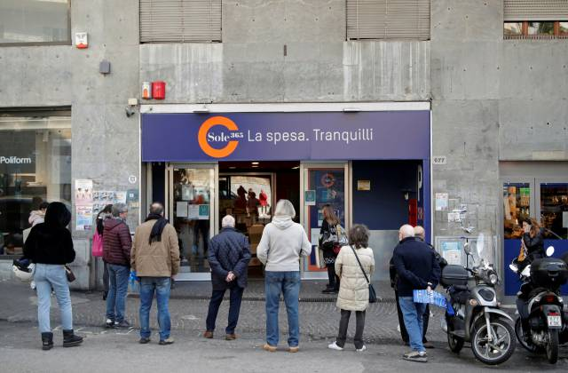Day two of Italy's nationwide coronavirus lockdown, in Naples