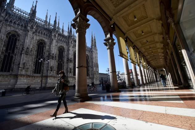 Day two of Italy's nationwide coronavirus lockdown, in Milan
