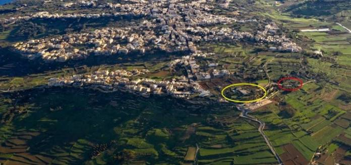 Gozo Arial view