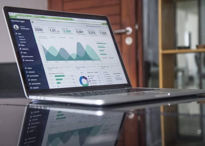 stats on laptop