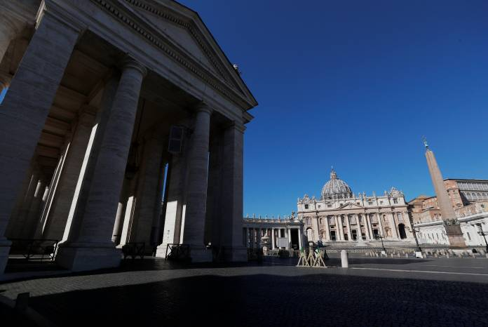 Pope Francis gives his weekly general audience at the Vatican