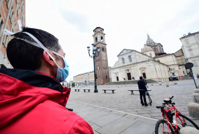 Day six of Italy's nationwide coronavirus lockdown, in Turin