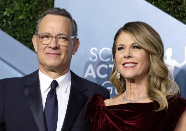 FILE PHOTO: 26th Screen Actors Guild Awards – Arrivals – Los Angeles, California, U.S., January 19, 2020 – Tom Hanks and Rita Wilson