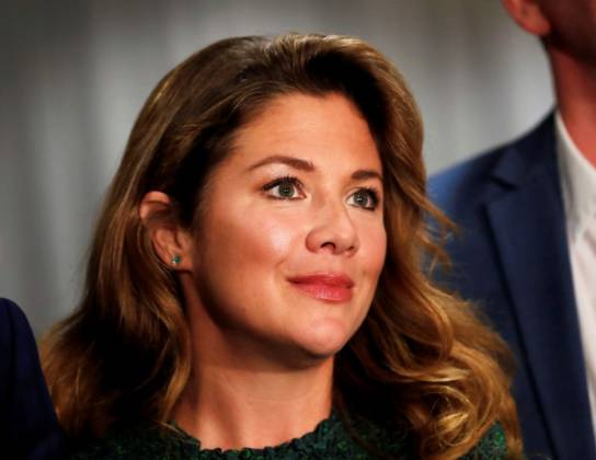 FILE PHOTO: Sophie Gregoire Trudeau, wife of Liberal leader and Canadian Prime Minister Justin Trudeau, arrives for a rally in Burnaby
