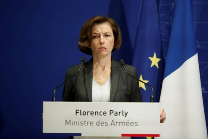 FILE PHOTO: French Armed Forces Minister Florence Parly during a news conference in Paris