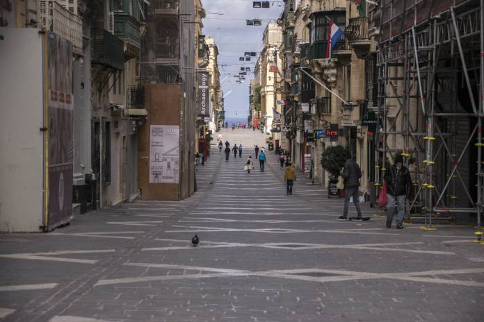 Valletta empty due to coronavirus