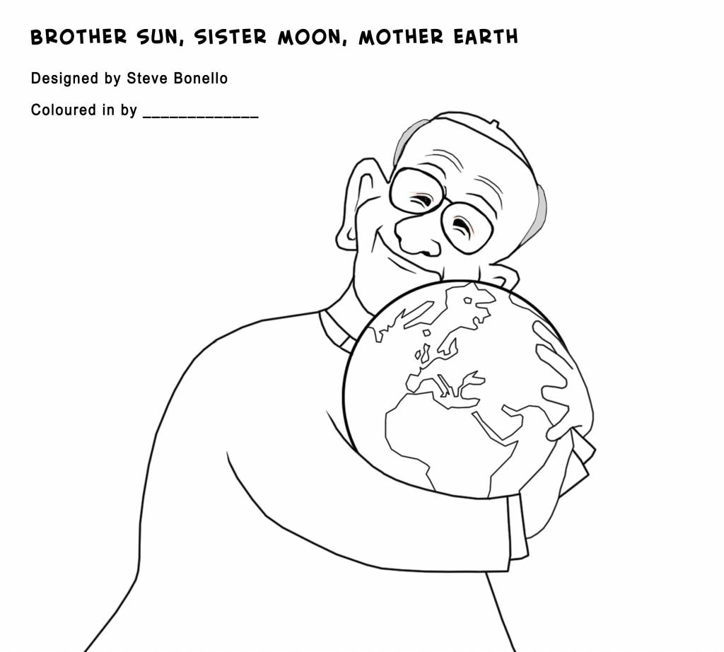 Francis Earth | Drawing by Steve Bonello