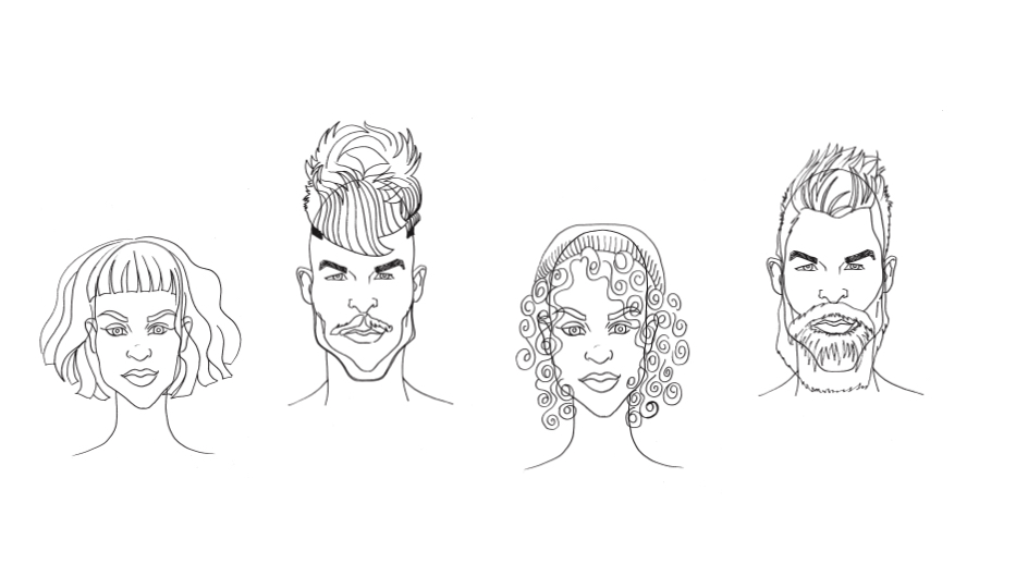 Hairstyles | Drawing by Isabel Warrington