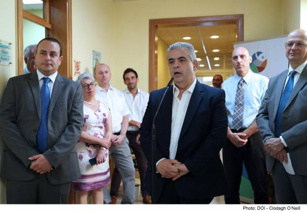 Minister for the Family, Children's Rights and Social Solidarity Michael Falzon visits the Substance Misuse Outpatients Unit commemorating the International Day Against Drug Abuse and Illicit Trafficking