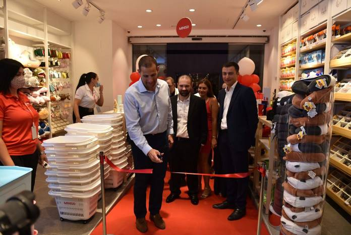 Prime Minister Robert Abela inaugurates Miniso Retail Outlet Tagliaferro Centre, High Street, Sliema