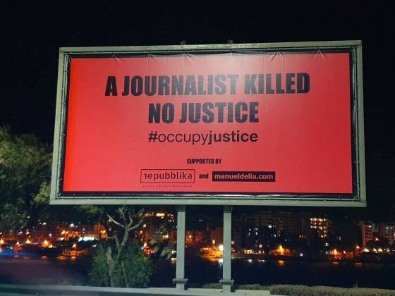 billboard Occupy Justice
