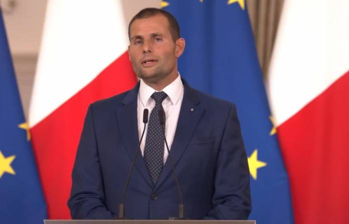 Prime Minister Robert Abela addresses a press conference