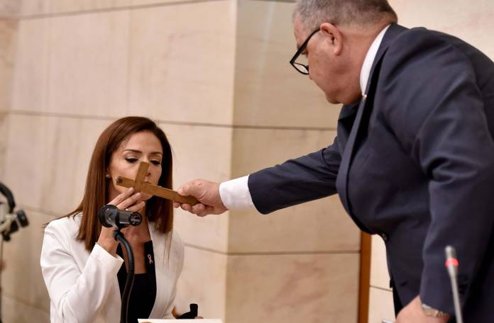 Swearing in of Ms Miriam Dalli and Mr Clyde Caruana as Members of Parliament Parliament of Malta, Valletta