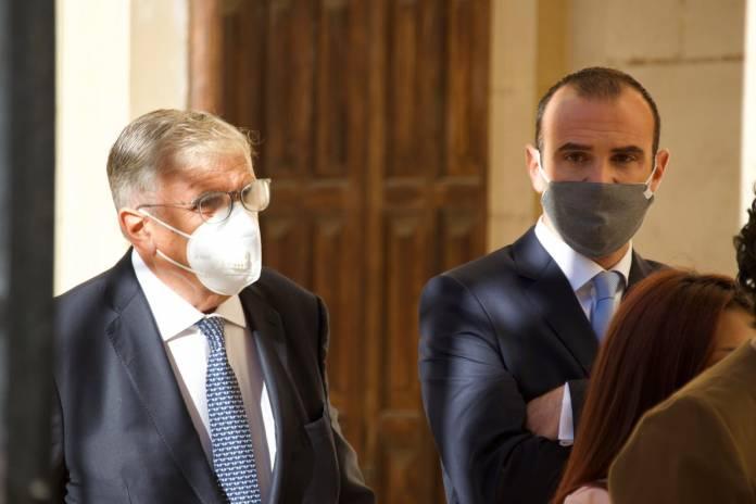 Mark and Joe Gasan entering court public inquiry
