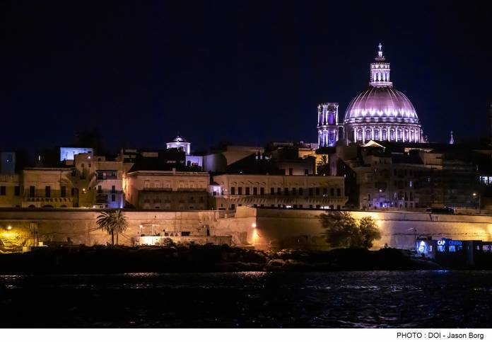 New Lighting System for Our Lady of Mount Carmel Basilica Dome in Valletta officially inaugurated