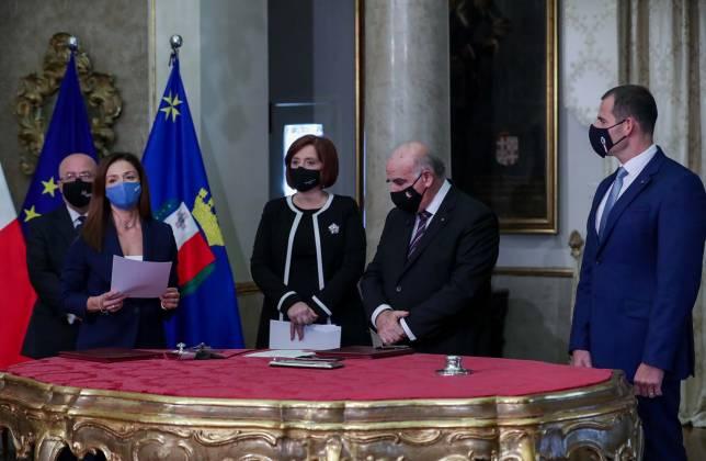 Ministru Miriam Dalli ġurament tal-ħatra