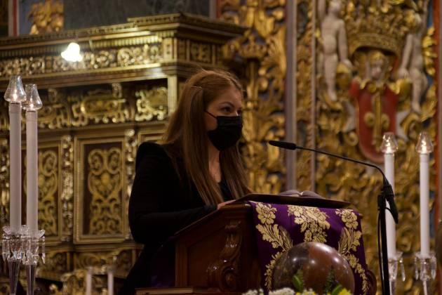 Quddiesa funebri ta' Prof. Friggieri; Ritratt: Miguela Xuereb