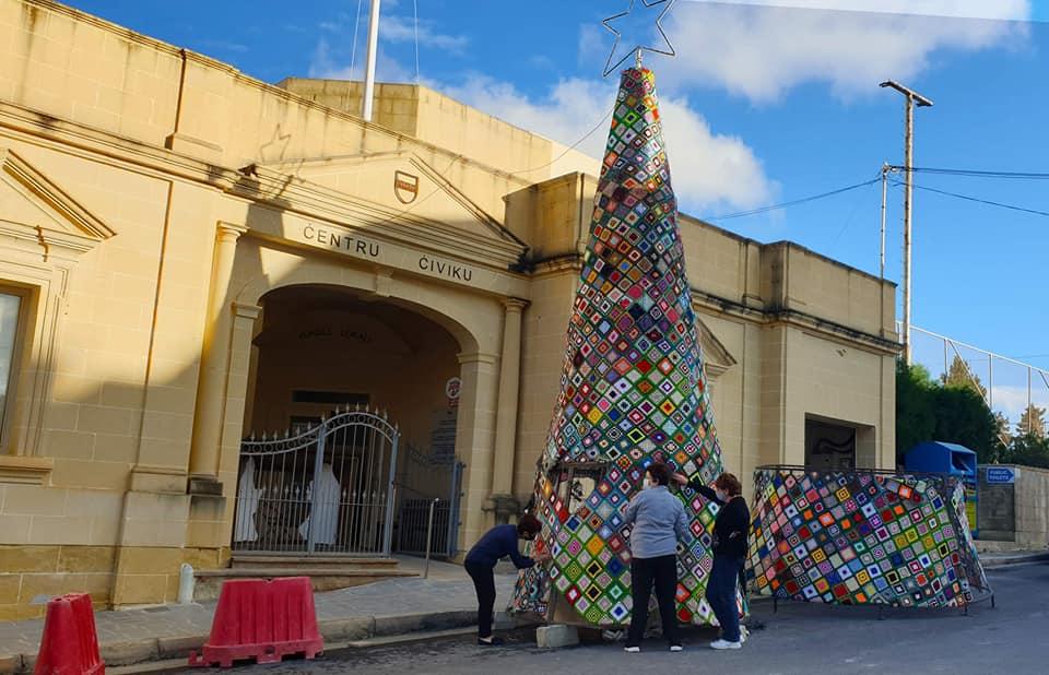 Photos: Crafty Christmas tree embellishes Kerċem, Gozo