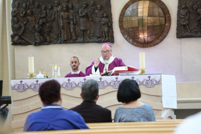 Archbishop Charles Scicluna presides over Mass held at the Chapel of the Holy Mother of God, Mater Dei Hospital